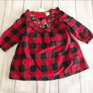 NWT Baby Gap buffalo plaid dress